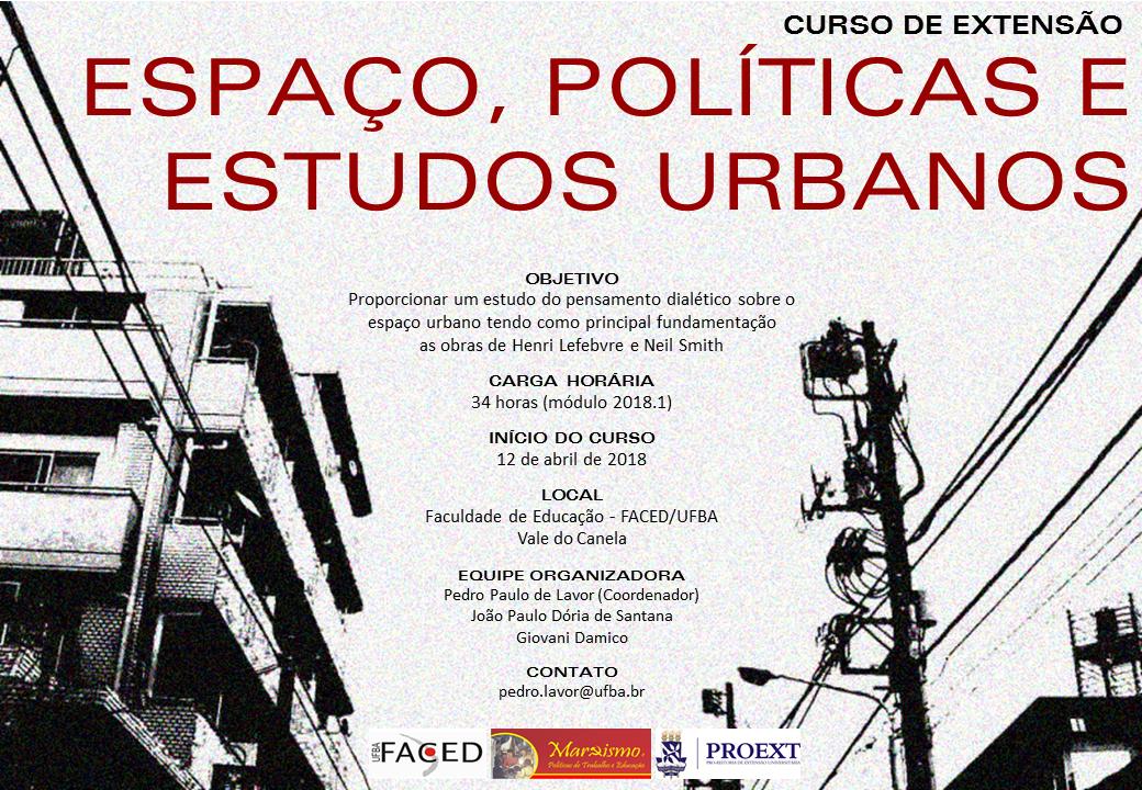 Curso de Extensão Espaço, Políticas e Estudos Urbanos