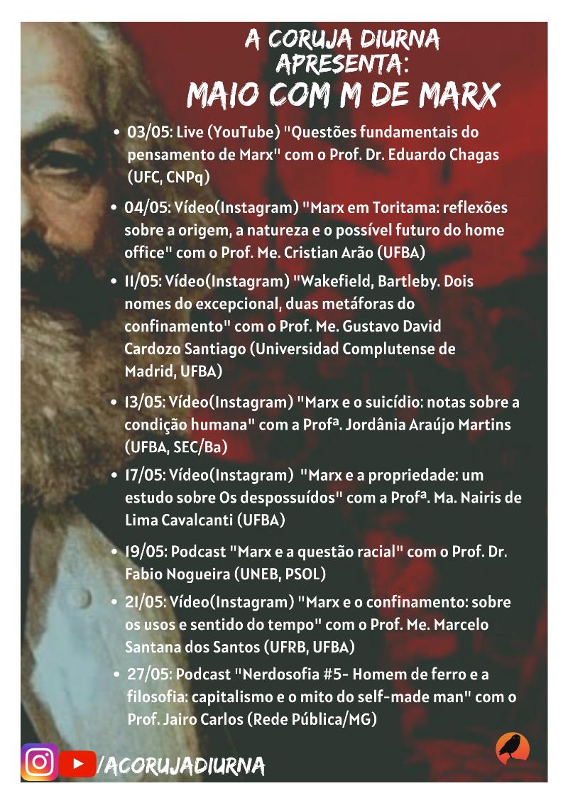 Programação Maio com M de Marx